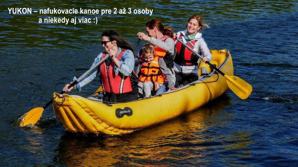 bezpečné kanoe pre 2-3 osoby